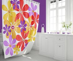 Who says the fun has to stop at the bathroom door? Shop mid century modern shower curtains featuring our original all modern fabrics. Decor, Pad Design, All Modern, Modern Fabric, Modern Shower Curtains, Bathroom Decor, Modern Shower, Orange Shower Curtain, Home Decor