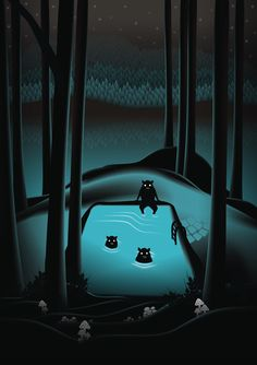 The Pool by Martynas Pavilonis.  GIF  Availabe as art print - click here.
