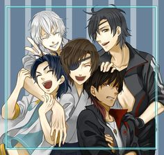 Dategumi with Date Masamune a.a their owner Date Masamune, Sengoku Basara, Cool Anime Guys, Anime Crossover, Drawing Poses, Touken Ranbu, Video Game Anime, Samurai, Character Art