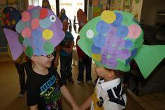 Fish hats, fish hats, roly poly fish hats from Paula's Preschool and Kindergarten