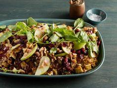 Quinoa, Roasted Eggplant and Apple Salad with Cumin Vinaigrette Recipe : Giada De Laurentiis : Food Network