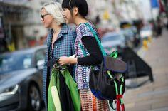 Francesca Burns, Susie Lau - The Cut London Fashion week SS2014 Splash of color take 2