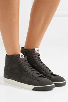 d012364ac2d9 Nike - Blazer Mid Vintage leather-trimmed suede sneakers