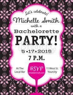 Bachelorettte Party Invitation Template Royalty Free Stock Vector Art Illustration