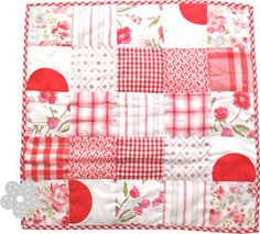 pretty red patchwork