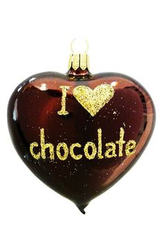 Nordstrom at Home 'I Love Chocolate' Heart Ornament Pelo Chocolate, Death By Chocolate, Chocolate Hearts, I Love Chocolate, Decadent Chocolate, How To Make Chocolate, Chocolate Lovers, Chocolate Desserts, Chocolate Rocks