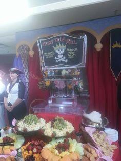 Pirates Themed Fruit and cheese set up at Va Rep Cinderella ball