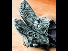 как вязать носки - инструкция вязание крючком - © Woolpedia - YouTube