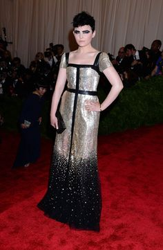"""Ginnifer Goodwin arriving at the Met Gala 2013: """"PUNK: Chaos To Couture"""" at the Metropolitan Museum of Art in New York City - May 6, 2013 - Photo: Runway Manhattan/CelebrityPhoto"""