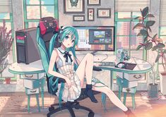 Anime picture vocaloid hatsune miku ixima single looking at viewer highres 594603 en Moe Anime, Chica Anime Manga, Kawaii Anime Girl, Manga Girl, Anime Art, Anime Girls, Kaai Yuki, Vocaloid Characters, Miku Chan