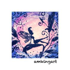 Fairy dream . Miniature picture in mixed media