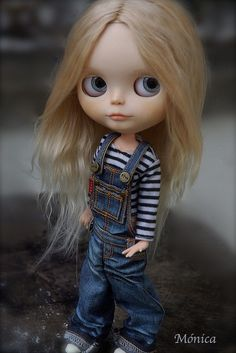 blythe coveralls   Blue by ♥**Monica **♥, via Flickr   Blythe : overalls denim