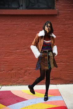 Technicolor dream skirt