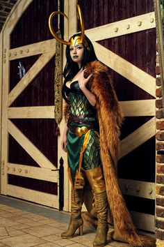 Lady Loki as cosplayed by russian cosplayer souji-yarou. #Rule63 #cosplay