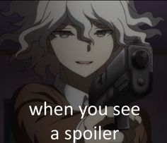 this is sort of a spoiler in its own way actually XD but honestly if you haven't watch this ep yet do it. I'm gonna watch new episode of zetsubo-hen in a half hour let's pray something gets accomplished Memes Lol, Stupid Memes, Funny Memes, Danganronpa Funny, Danganronpa Characters, Anime Meme Face, All Meme, Funny Reaction Pictures, Anime Expressions