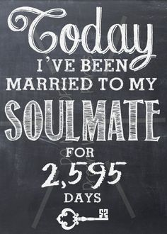 Wedding Anniversary SOULMATE printable chalkboard art LOVE Valentine Birthday. $6.00, via Etsy. 7th Wedding Anniversary, Cheap Wedding Venues, Chalkboard Quotes, Art Quotes, Wedding Hairstyles, Gift Ideas, Home Decor, Wedding Hairsyles, Homemade Home Decor