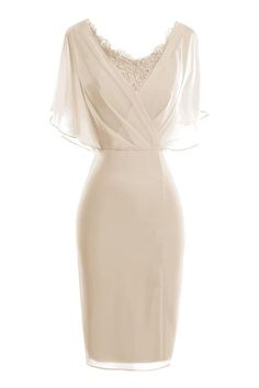 Modern Scoop Short Sleeve Sheath Pencil Dresses,417