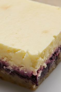 Lemon Blueberry Cheesecake Bars