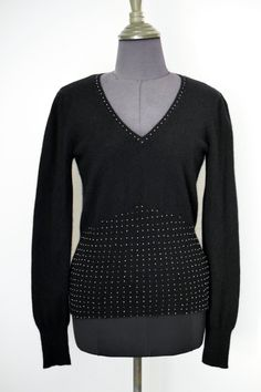NAF NAF France Vintage Black Knit Top Jumper, Soft Angora Blend, Size L by TheTreasureBoxOrna on Etsy