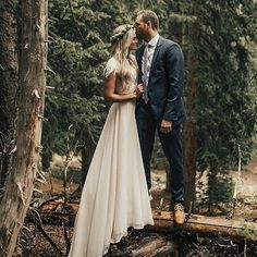 Custom modest wedding dress with chiffon skirt and lace top. Separates wedding dress. Modest wedding dress. LDS temple wedding. Dress from Fantasy Bridal in Utah