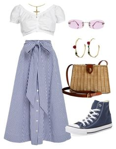 """""""Untitled #1036"""" by lucyshenton ❤ liked on Polyvore featuring GERMAN PRINCESS, Lisa Marie Fernandez, Converse and Chanel"""