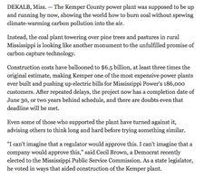 "As burned in modern power plants, coal is already ""clean."""