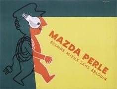 MAZDA PERLE ECLAIRE MIEUX SANS EBLOUIR (1960)  from SAVIGNAC Raymond