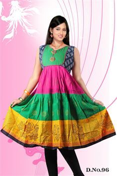 Elegant personality with new SIXMETER Colourful #Casual Wear #Anarkali Style #Kurti for lovely lady.