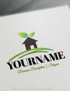Construction real estate logo free business card best real free logo maker house logos colourmoves