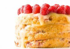 Raspberry Lemon Cake with home-made lemon curd - yummmmm...