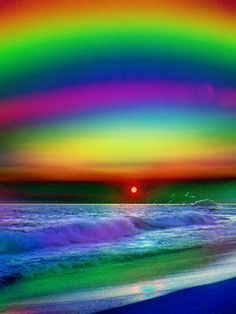 Allow yourself to look at all the colors in this Rainbow Beach...What color is healing for YOU today.