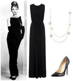 Audrey hepburn style long dress