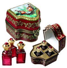 Limoges - Perfume Bottles Chest