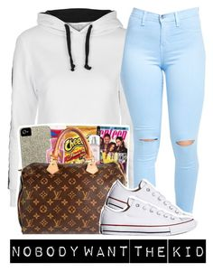 """""""Outfit #422 (Best Friend)"""" by whatevas ❤ liked on Polyvore featuring Topshop, xO Design and Converse"""