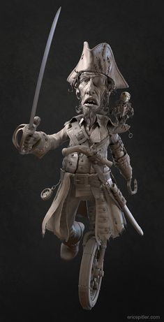 Pirate Hipoly by Eric Spitler | Whimsical | 3D | CGSociety