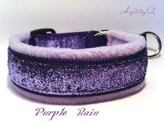 SOFT Bling Fancy Martingale  Dog Collar or Clip Custom Glitter Purple  Fleece Christmas on Etsy, $19.50