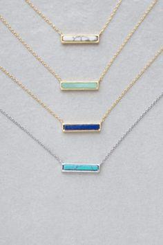 bdc62612b273 Gold   White Marble Bar Necklace Cadenitas De Oro