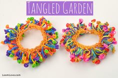 How to Make a Tangled Garden Bracelet (Without a Rainbow Loom) tutorial by Loom Love.