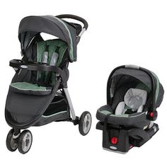 Graco Fast Action Fold Sport Click Connect Travel System Stroller - Greenhill