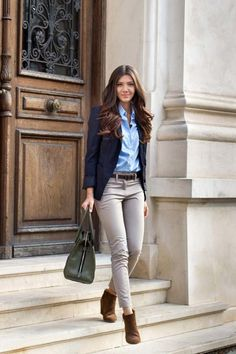 43 pretty fall outfit ideas with blazer and style Business Casual Outfits, Chic Outfits, Fashion Outfits, Office Outfits, Blazer Outfits, Office Attire, Office Wear, Office Uniform, Casual Blazer