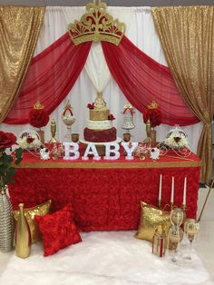 Best ideas, guide and tips for baby shower party themes, It really is entirely possible to organize an incredible baby shower with just a shoestring b… – Baby Shower Royal Baby Shower Theme, Royalty Baby Shower, Royal Theme, Baby Shower Princess, Baby Shower Themes, Baby Shower Decorations, Shower Centerpieces, Balloon Decorations, Shower Ideas