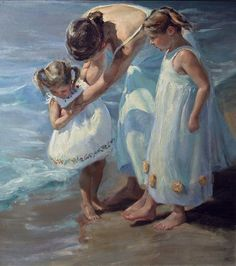 """Cherished Moment"" by Johanna Harmon, American painter. Art And Illustration, Art Plage, Photo D Art, Am Meer, Beach Art, Art Plastique, Beautiful Paintings, Love Art, Painting & Drawing"
