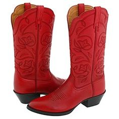 red cowboy boots.