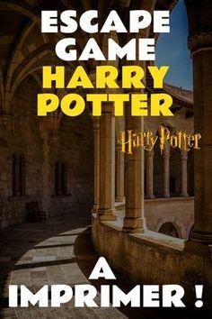 Harry Potter Escape Game Als PDF drucken. Harry Potter Classroom, Theme Harry Potter, Harry Potter Birthday, Harry Potter Diy, Harry Potter Games Online, Online Games, College Party Games, Harry Potter Enfants, Hogwarts