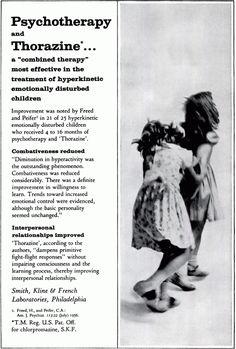Chlorpromazine (Thorazine, Largactil) advertising