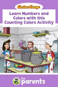 Colors and counting don't seem to go together, but you can help your child learn about them at the same time. In the Counting Colors game, your child can develop both those skills!  #PBSKIDS #PBSKIDSforParents #summeractivities #CuriousGeorge Summer Activities For Kids, Color Activities, Crafts For Kids, Counting Games, Color Games, Pbs Kids, Curious George, Learning Numbers, Color Crafts