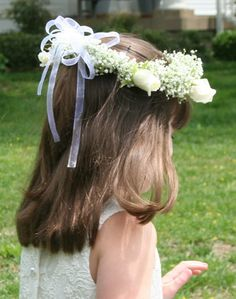 flower crown - bridal party wears one