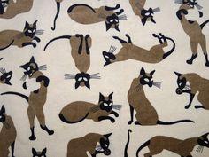 Siamese cat fabric.
