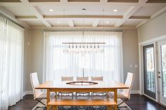 Spectacular New Design in Bearspaw News Design, Dining Rooms, Conference Room, How To Memorize Things, Curtains, Group, Luxury, Gallery, Table