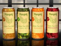 Hansen's Green Tea Sodas: McLean Design used kimono-inspired patterns and parchment textures to suggest both the ancient art of homeopathic medicines and the hand-made qualities of a traditional iced tea.